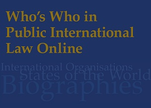Who's Who in Public International Law